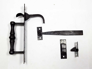 Pair of Early Norfolk Thumb Latches Signed