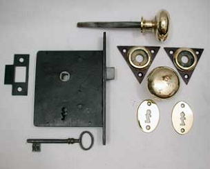 Circa 1840 All Original Mortise Lock, Complete 200-874