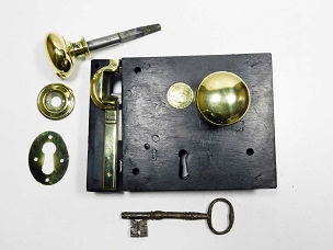 Antique Restored No. 60 Improved Lock Carpenter Rim Lock,  245-493
