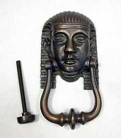 Second Egyptian Revival Early 1920's American Door Knocker, Bronze, Complete  360-406