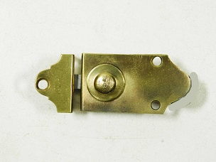Antique Flush Mount Brass Cabinet or Cupboard Latch, From Mid 1800's  445-212