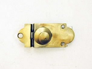Antique Flush Mount Brass Cabinet or Cupboard Latch, From Mid 1800's  445-213