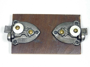 Two Matching Victorian 1860 Cupboard Latches Cast Iron, 445-253