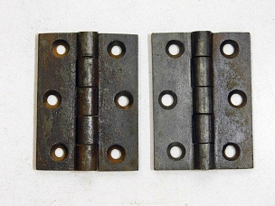 Pair of New England Butt Co. Cast Iron Butt Hinges 3 1/2
