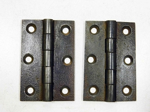 Antique Cast Iron Butt Hinges 3 1/4