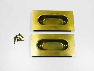 12 Matching Flush Mount Window Sash Lifts Wrought Steel Brass Plated  641-091