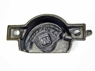 Antique Swivel Catch Sash Window Lock in Cast iron Patent 1877 Complete  641-099