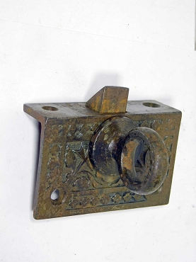 Pull Down Transom Window Latch, 1880's, Untouched & Working  641-100