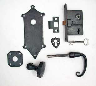 Circa 1920 Colonial Revival mortise lock complete