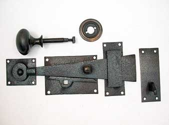 18th century bar latch with brass knob