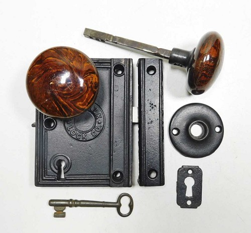 Signed with Patent date 1863  Norwalk rim Lock