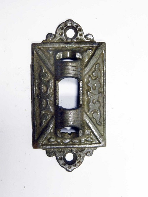 Victorian ornate cast iron wall bracket for lamp